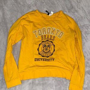 yellow college crew neck